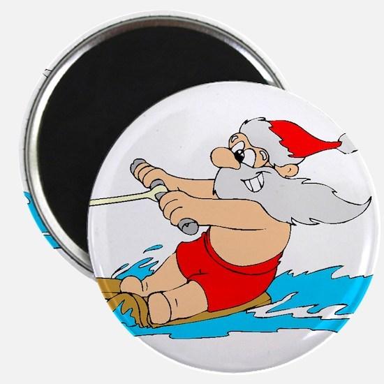 Waterski Santa Magnet