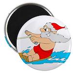 """Waterski Santa 2.25"""" Magnet (100 pack)"""