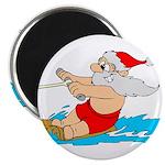 """Waterski Santa 2.25"""" Magnet (10 pack)"""