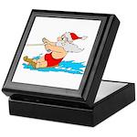 Waterski Santa Keepsake Box