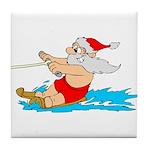 Waterski Santa Tile Coaster