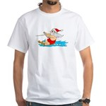 Waterski Santa White T-Shirt