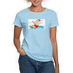 Waterski Santa Women's Pink T-Shirt