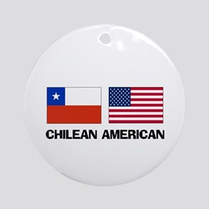 Chilean American Ornament (Round)