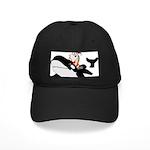 Santa's Whale Safari Black Cap