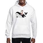 Santa's Whale Safari Hooded Sweatshirt