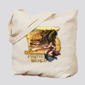 Pirate Wench Ship and Map Tote Bag