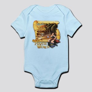 Pirate Wench Ship and Map Infant Bodysuit