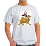 Camel Rodeo Santa Ash Grey T-Shirt