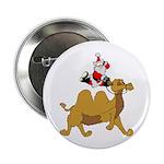Camel Rodeo Santa Button