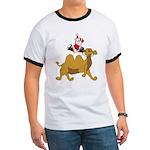 Camel Rodeo Santa Ringer T