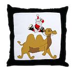 Camel Rodeo Santa Throw Pillow