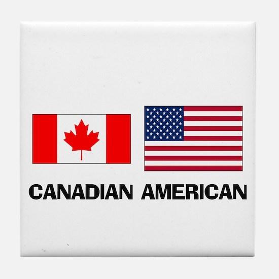 Canadian American Tile Coaster