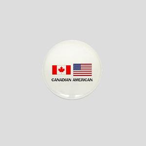 Canadian American Mini Button