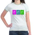 The Dancing Smiley Man - Carp Jr. Ringer T-Shirt