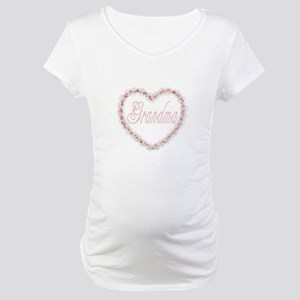 Grandma - Heart of Flowers Maternity T-Shirt