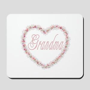 Grandma - Heart of Flowers Mousepad