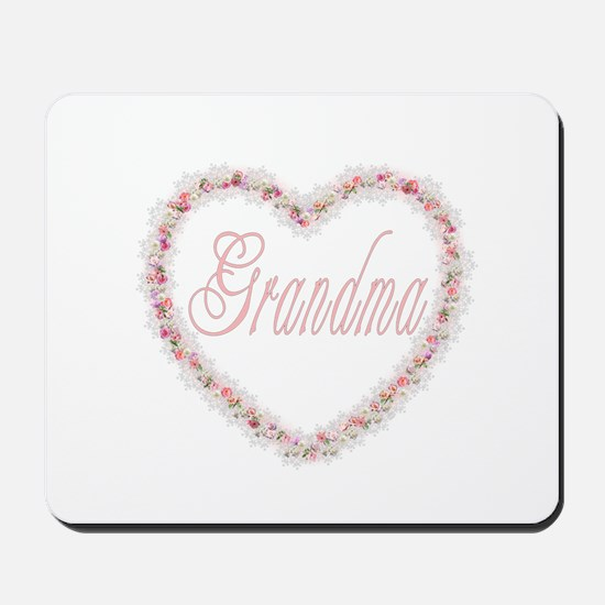 Grandma - Heart of Flowers Mousepad