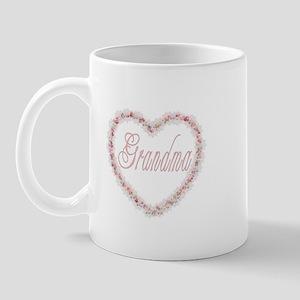 Grandma - Heart of Flowers Mug
