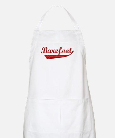 Barefoot (red vintage) BBQ Apron