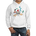 Scuba Diving Santa Hooded Sweatshirt