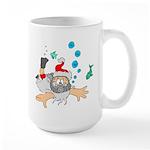 Scuba Diving Santa Large Mug