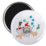 Scuba Diving Santa Magnet