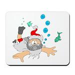 Scuba Diving Santa Mousepad