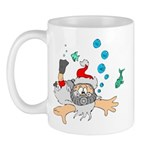 Scuba Diving Santa Mug