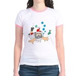 Scuba Diving Santa Jr. Ringer T-Shirt