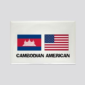 Cambodian American Rectangle Magnet