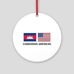 Cambodian American Ornament (Round)
