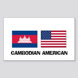 Cambodian American Rectangle Sticker