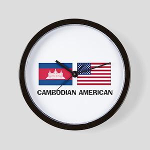 Cambodian American Wall Clock