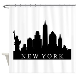 Ny Skyline Shower Curtains
