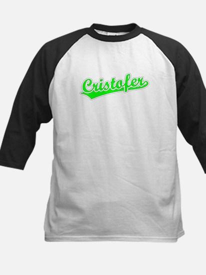 Retro Cristofer (Green) Kids Baseball Jersey