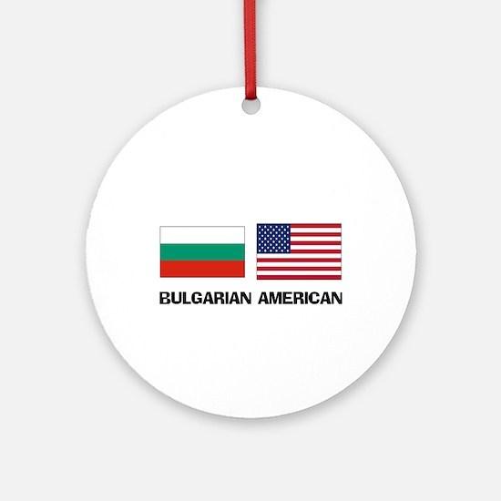 Bulgarian American Ornament (Round)