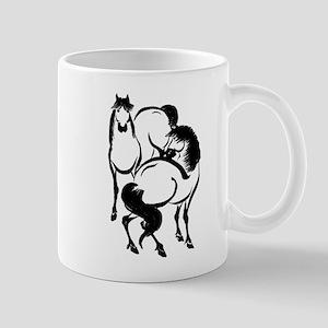 Japan Horse Art coffee cup