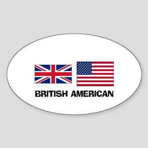 British American Oval Sticker