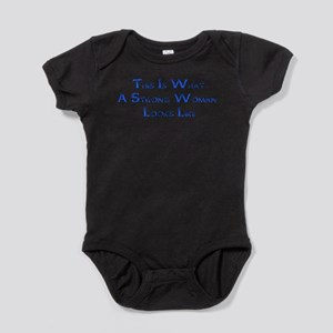 Strong Woman Example Baby Bodysuit