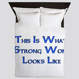 Strong Woman Example Queen Duvet