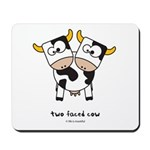 two faced cow Mousepad