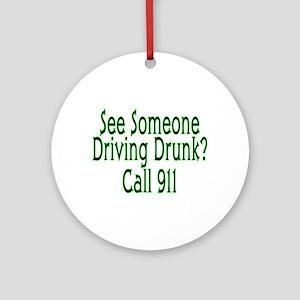 Call 911 Ornament (Round)