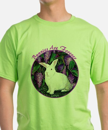 Bunnies are Forever Black T-Shirt