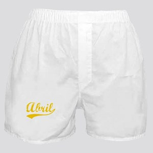 Vintage Abril (Orange) Boxer Shorts
