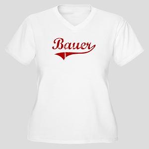 Bauer (red vintage) Women's Plus Size V-Neck T-Shi