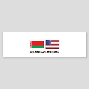 Belarusian American Bumper Sticker