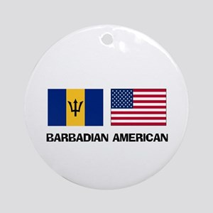 Barbadian American Ornament (Round)