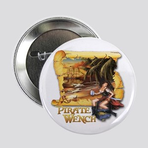 "Pirate Wench Ship and Map 2.25"" Button"