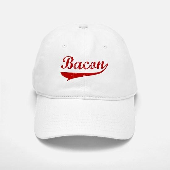 Bacon (red vintage) Baseball Baseball Cap